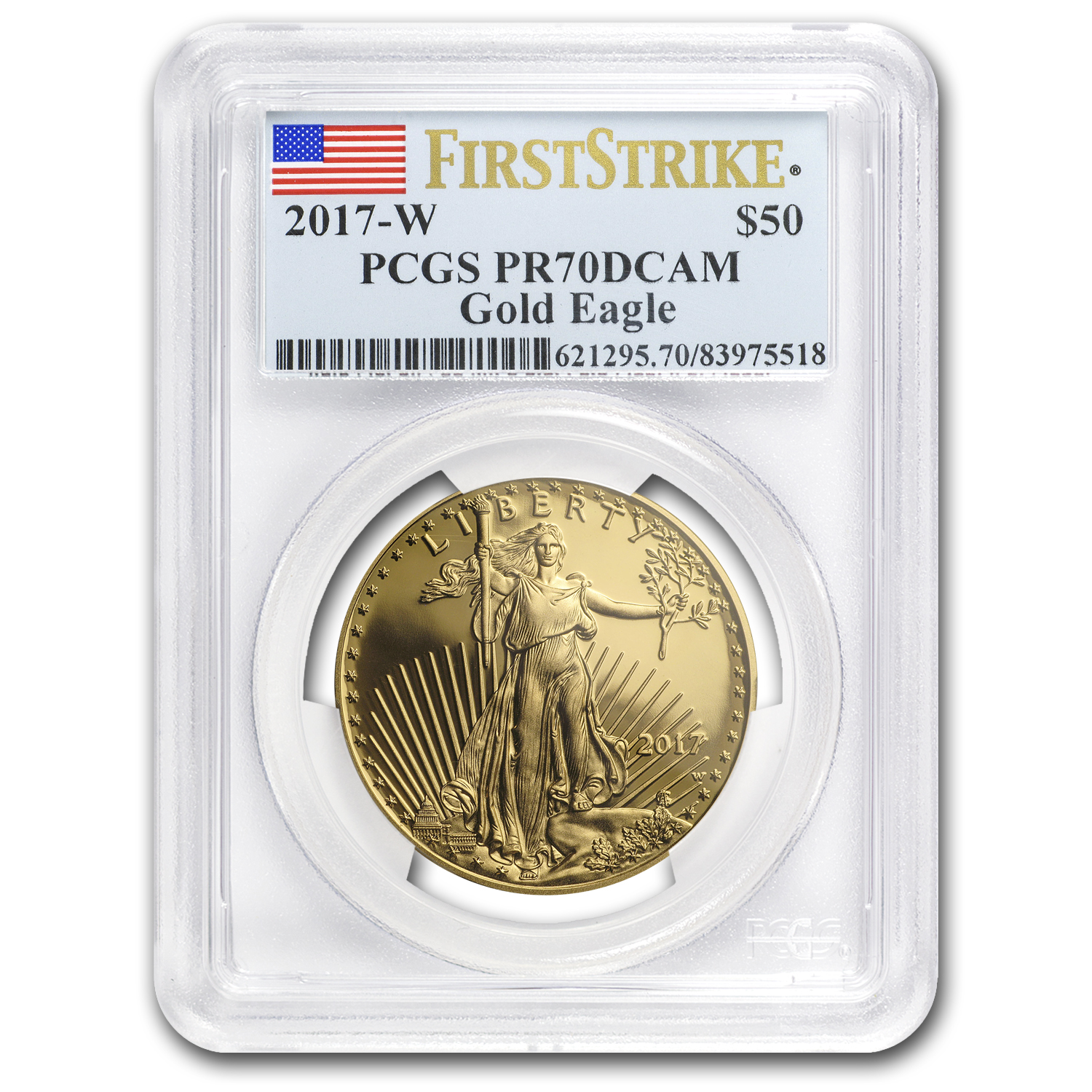 2017-W 1 oz Proof Gold American Eagle PR-70 PCGS (FS)